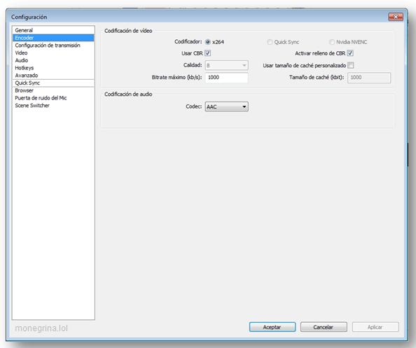 Configurar OBS Twitch 7