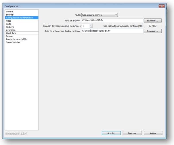 Configurar OBS Twitch 1
