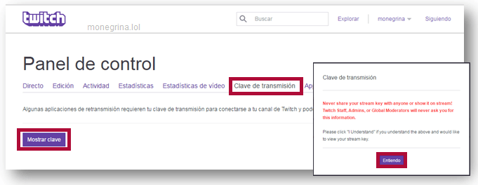 Configurar OBS Twitch 4