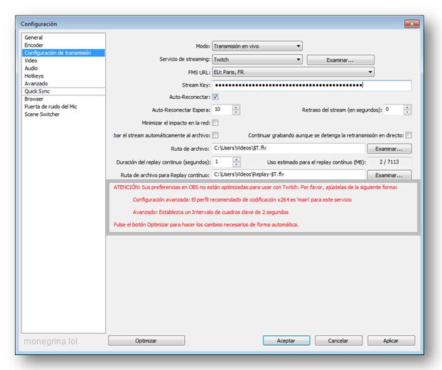 Configurar OBS Twitch 5