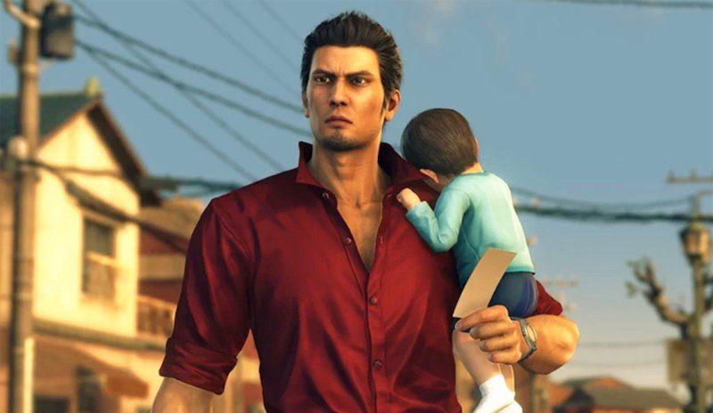 Yakuza6 Acunando bebe